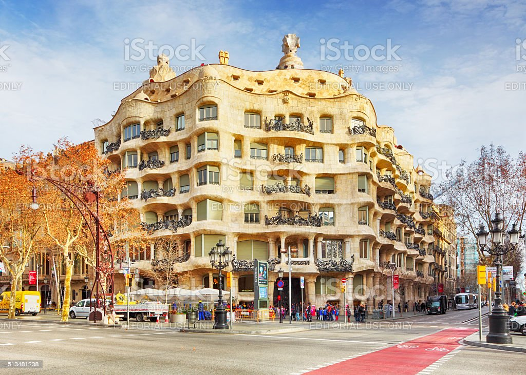 Casa Mila - La Pedreda, Barcelona stock photo