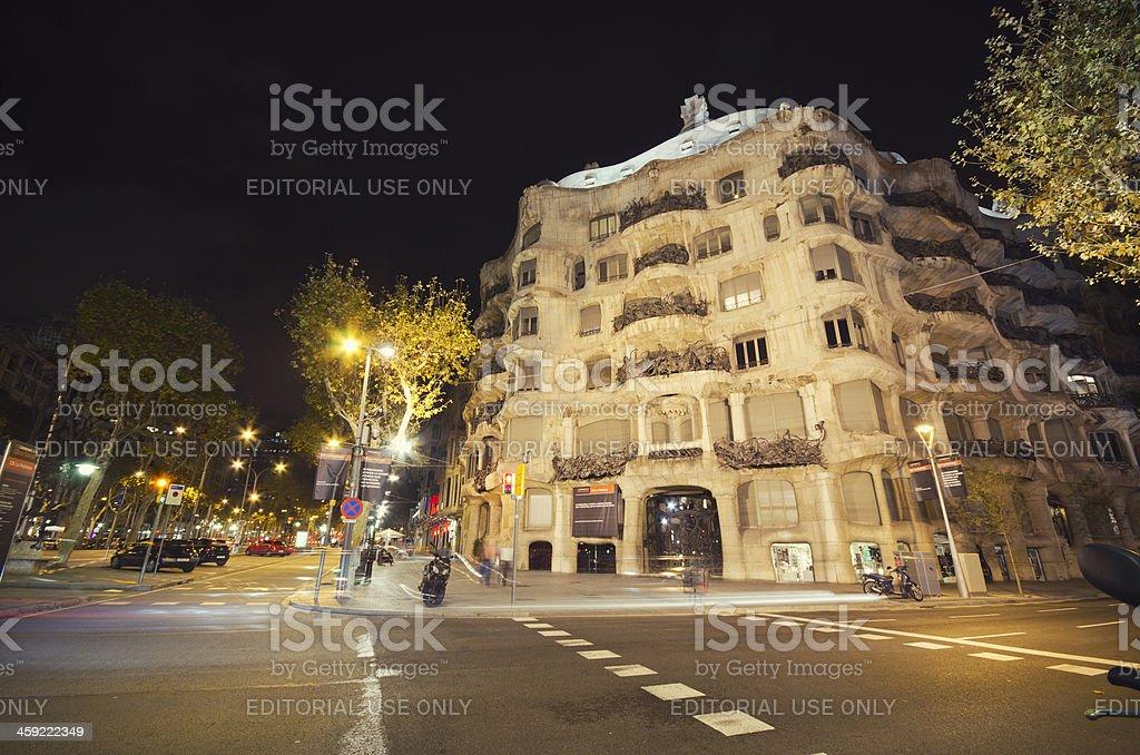 Casa Mila - La Pedrera made by Gaudi royalty-free stock photo