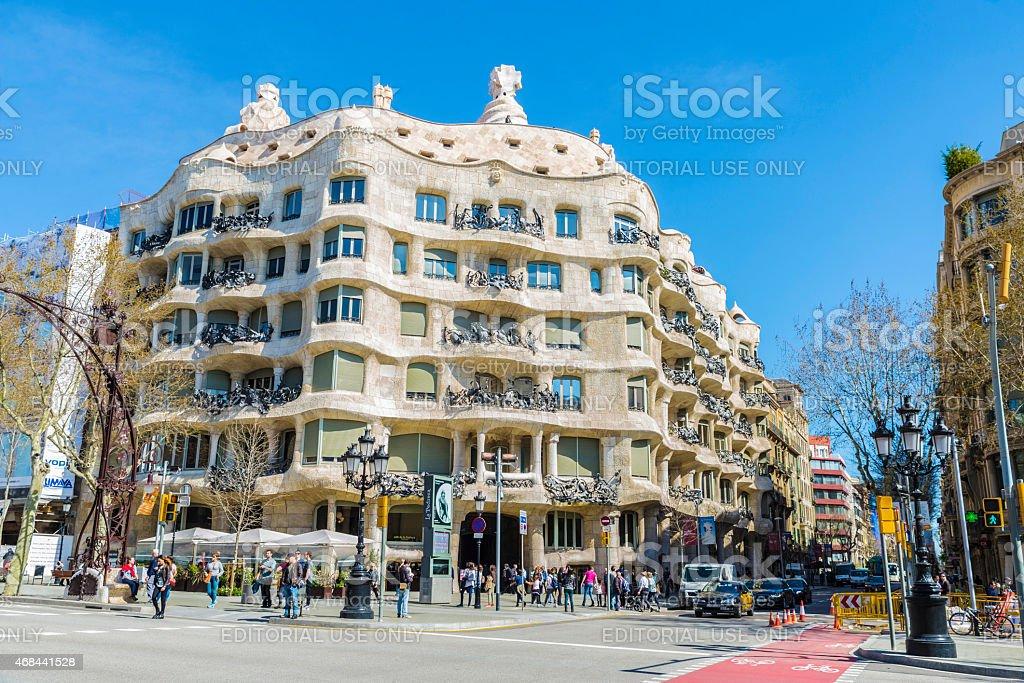 Casa Mila or La Pedrera, Barcelona stock photo