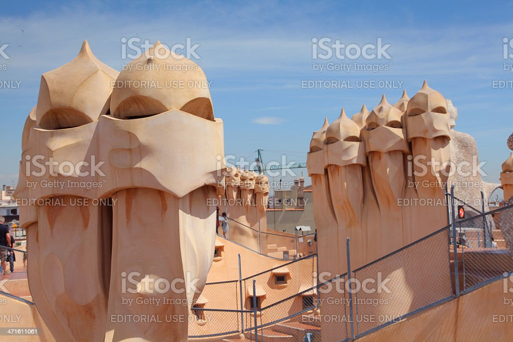 Casa Mila or La Pedrera royalty-free stock photo