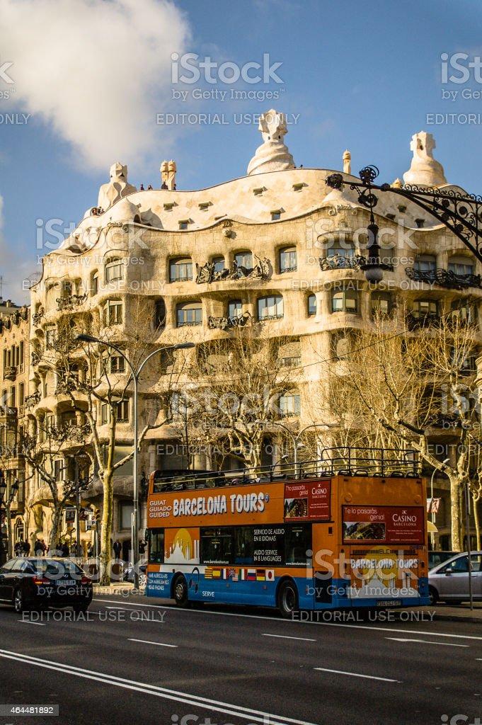 Casa Mila (also called La Pedrera) stock photo