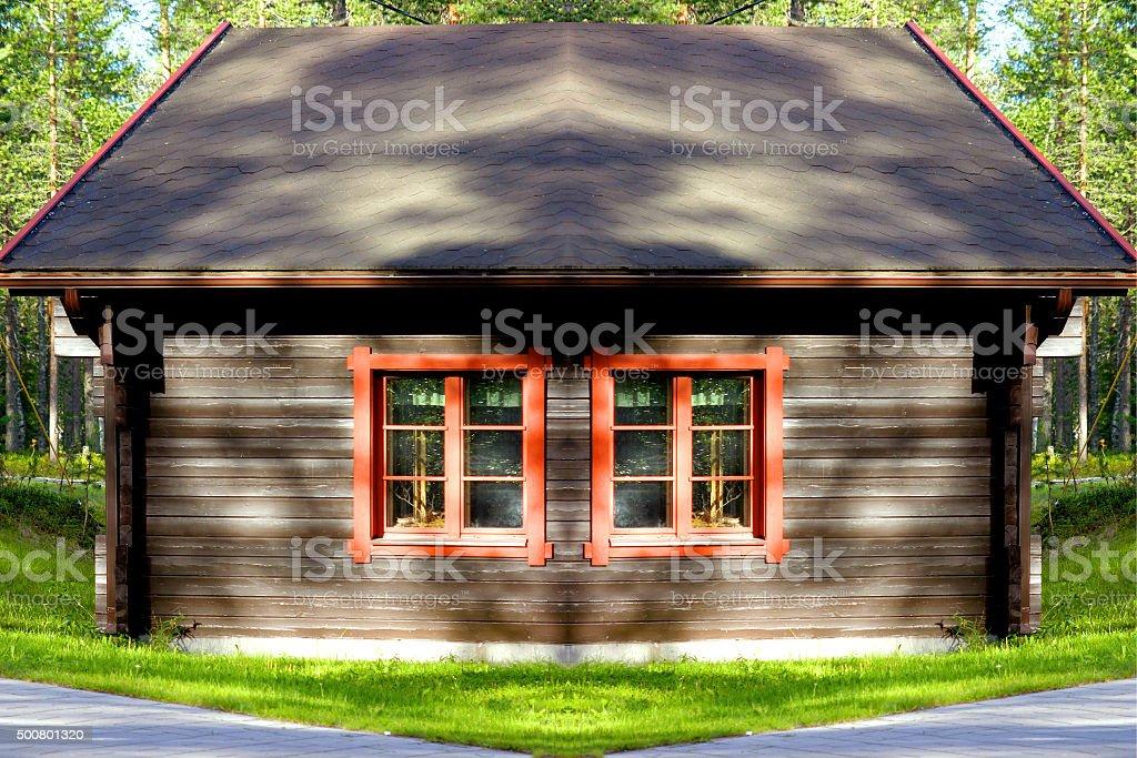 casa nel bosco stock photo