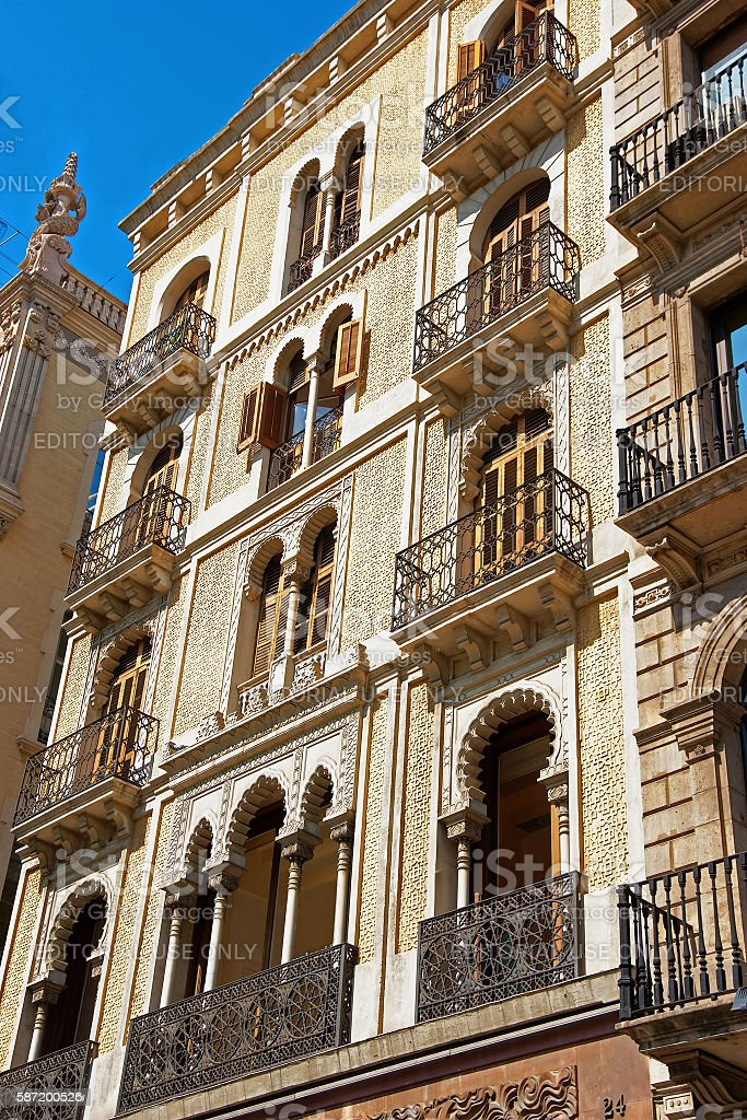 Casa Pere Libre in Passeig de Gracia 24 in Barcelona stock photo