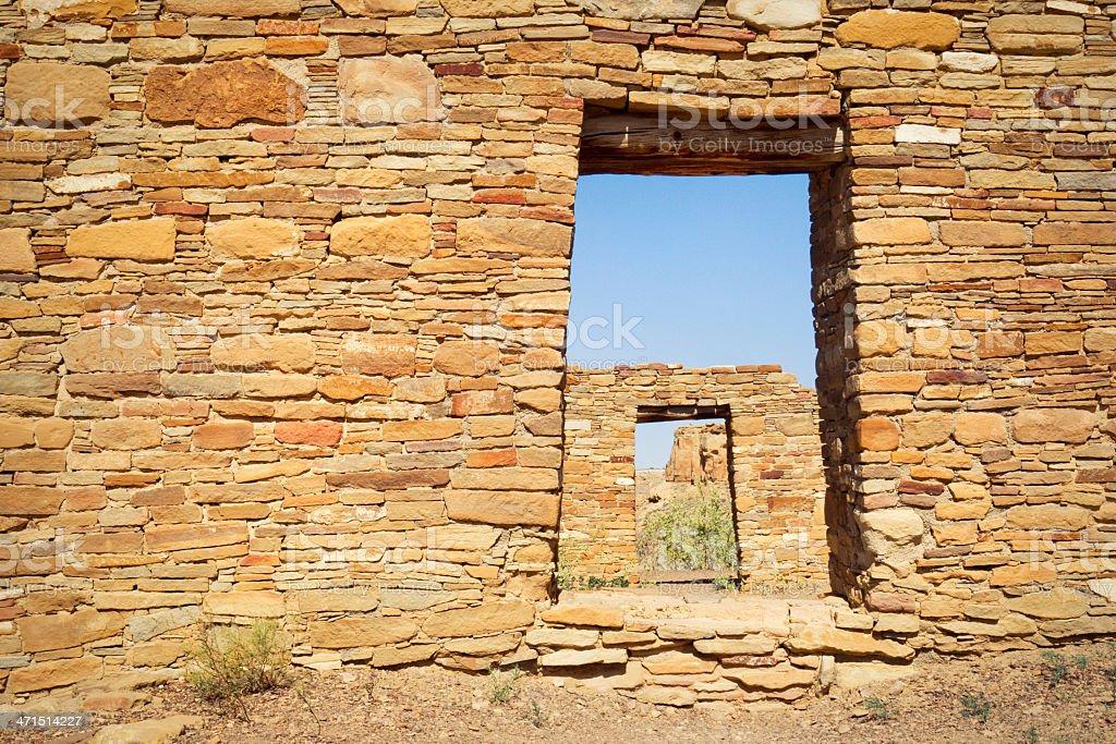 Casa Rinconada Ruins - Chaco Culture National Historical Park stock photo