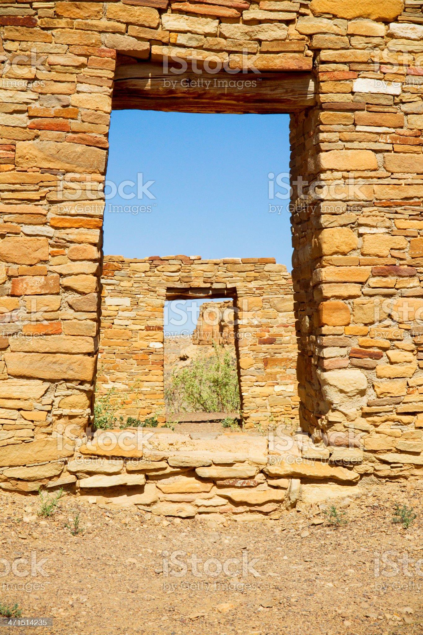 Casa Rinconada Ruins - Chaco Culture National Historical Park royalty-free stock photo