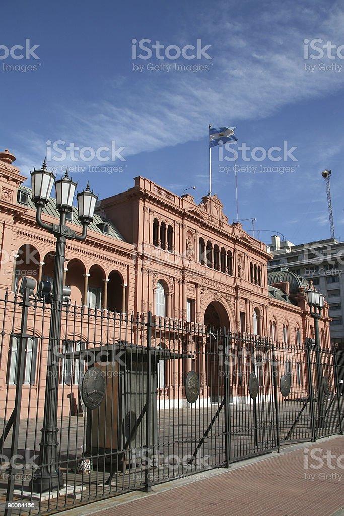 Casa Rosada in Buenos Aires royalty-free stock photo