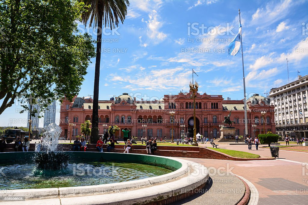 Casa Rosada in Plaza de Majo in Buenos aires stock photo