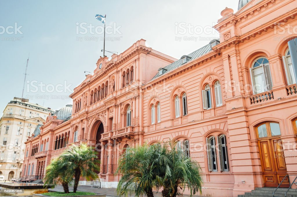 Casa Rosada (Pink House), presidential  Palace in Buenos Aires, Argentina stock photo