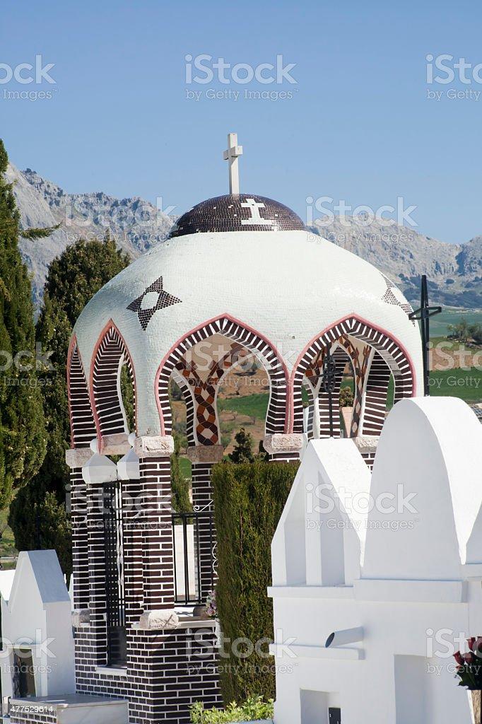 Casabermeja ancient cemetery, M?laga province, Spain. stock photo