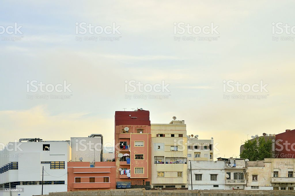 Casablanca Apartment Buildings royalty-free stock photo