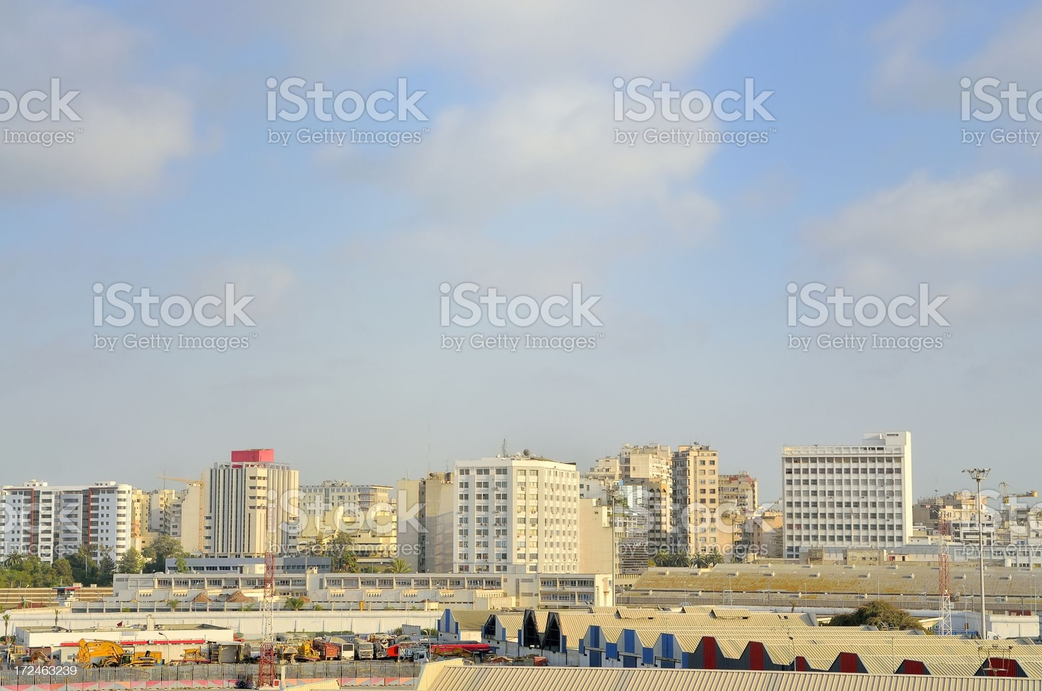Casablanca City Skyline royalty-free stock photo