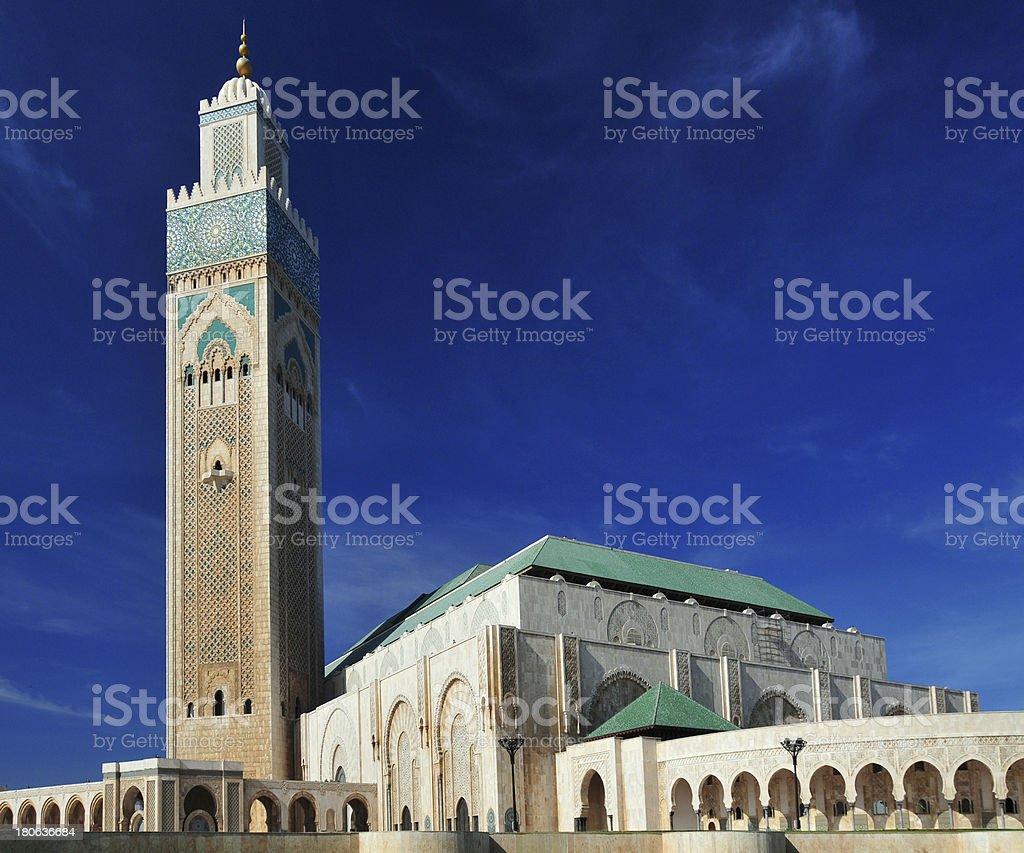 Casablanca / Dar-el-Baida, Morocco: Hassan II mosque stock photo