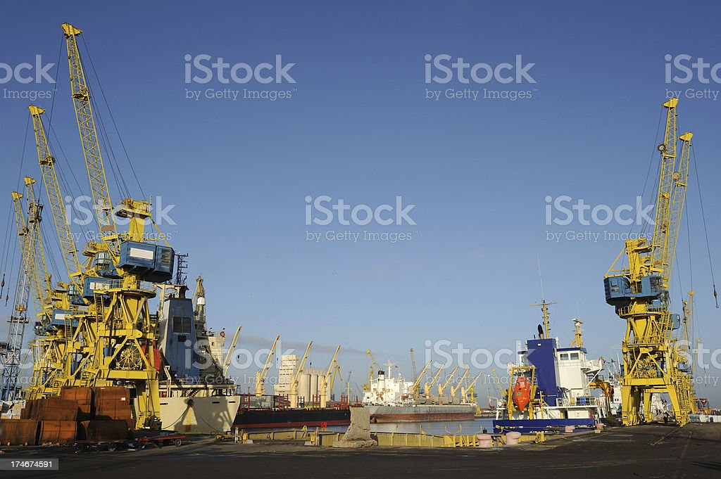 Casablanca Harbour royalty-free stock photo