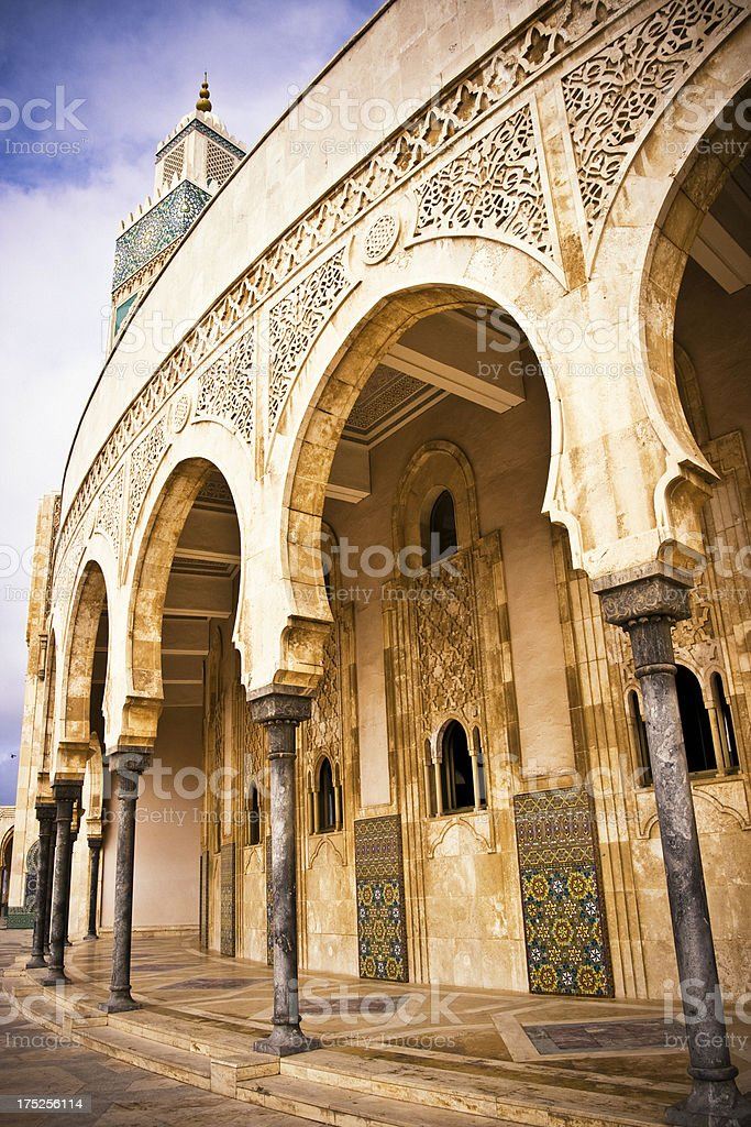 Casablanca Hassan II Mosque royalty-free stock photo