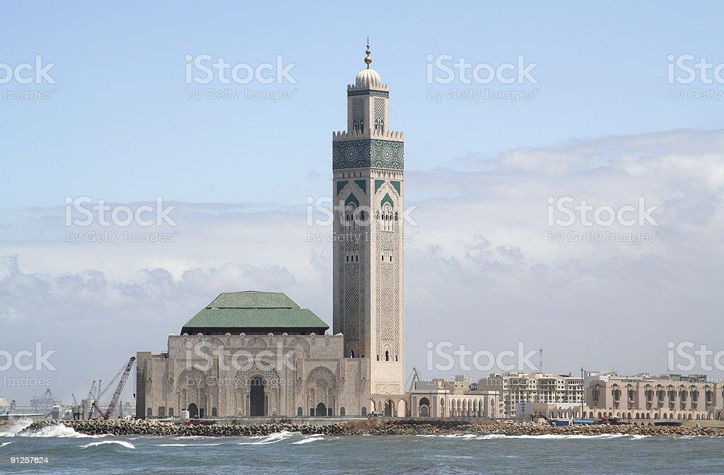 Casablanca King Hassan II Mosque stock photo