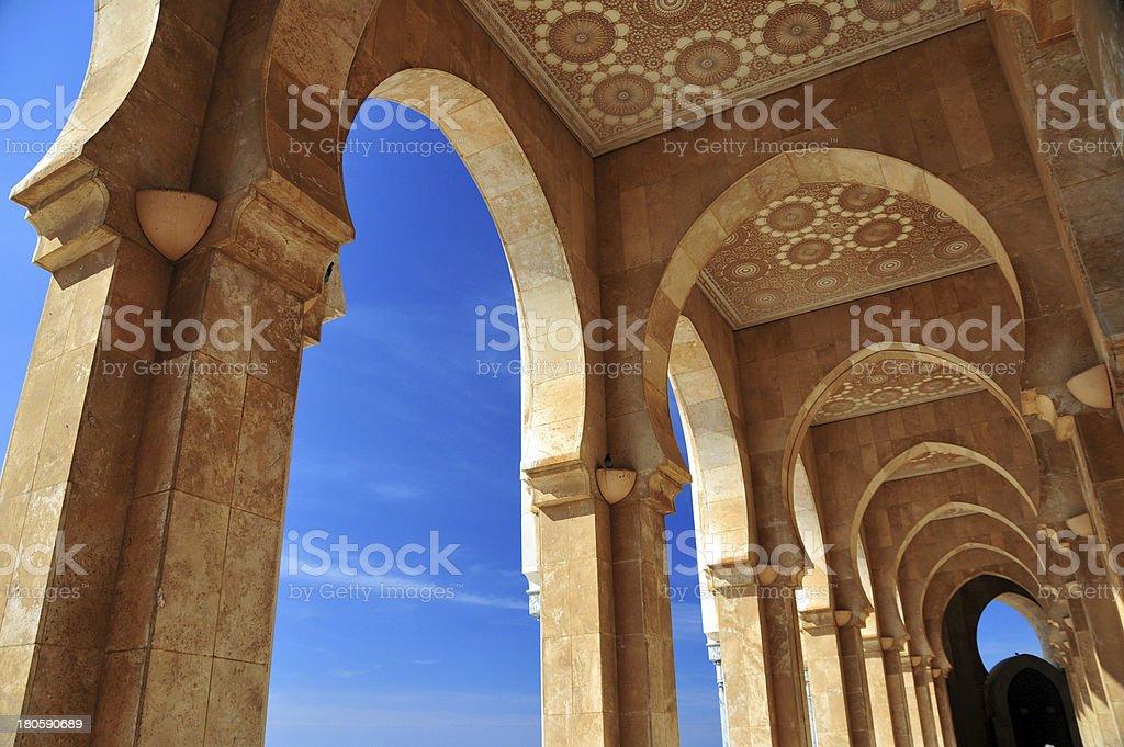 Casablanca, Morocco: Hassan II mosque - arcade stock photo