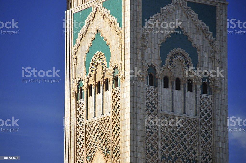 Casablanca, Morocco: Hassan II mosque, minaret stock photo