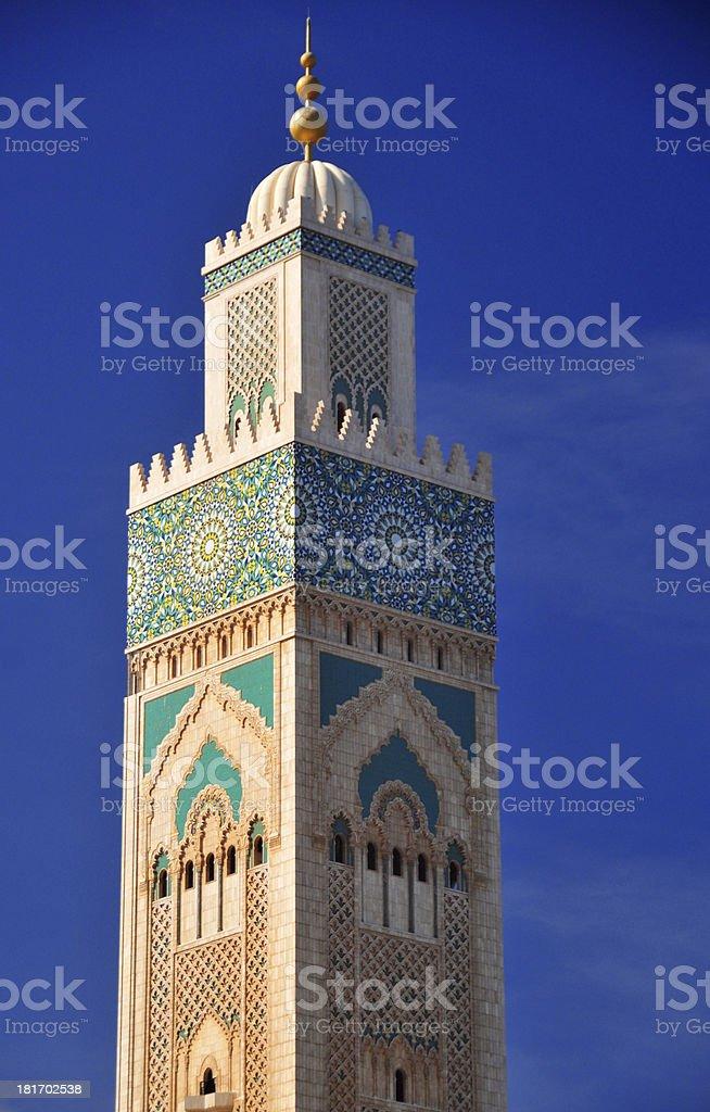 Casablanca, Morocco: Hassan II mosque - minaret stock photo