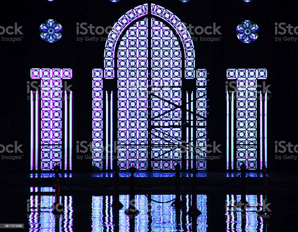 Casablanca, Morocco: Hassan II mosque, view to the Atlantic Ocean stock photo