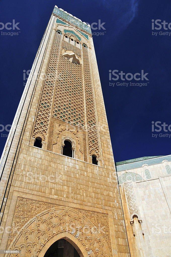 Casablanca, Morocco: Hassan II mosque, world's tallest minaret stock photo