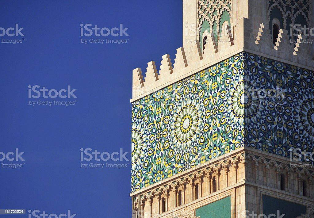 Casablanca, Morocco: Hassan II mosque, zellidj tiles stock photo
