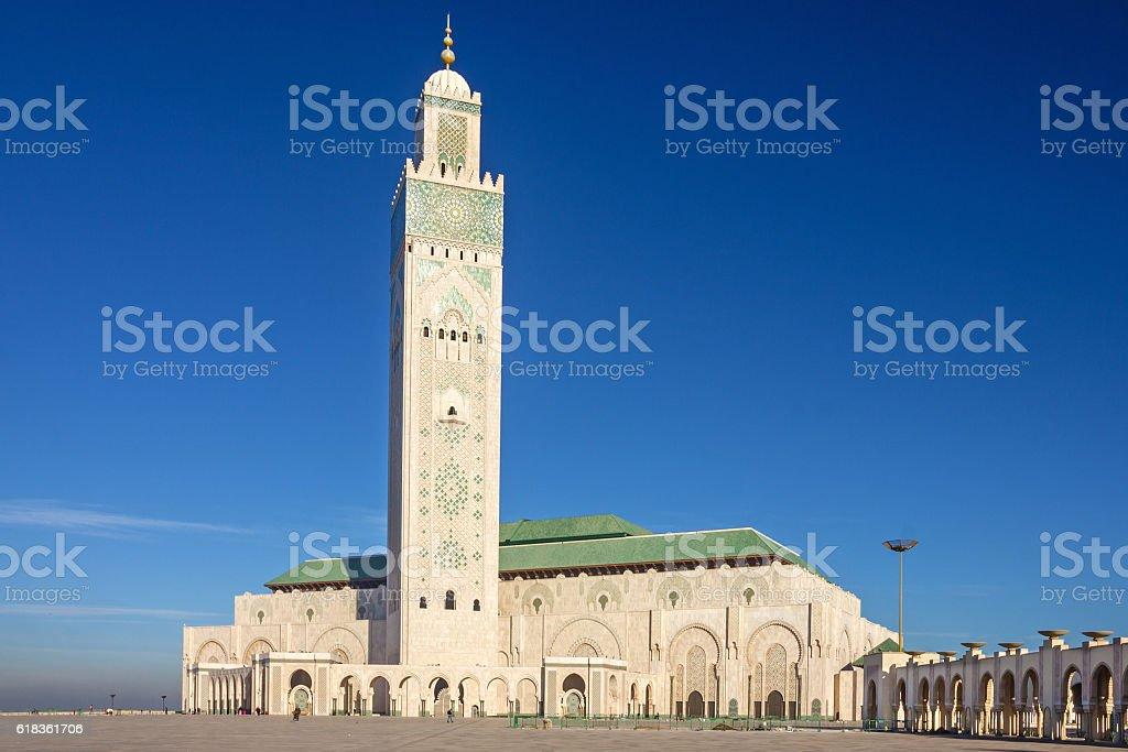 Casablanca, Morocco. Mosque Hassan II building stock photo