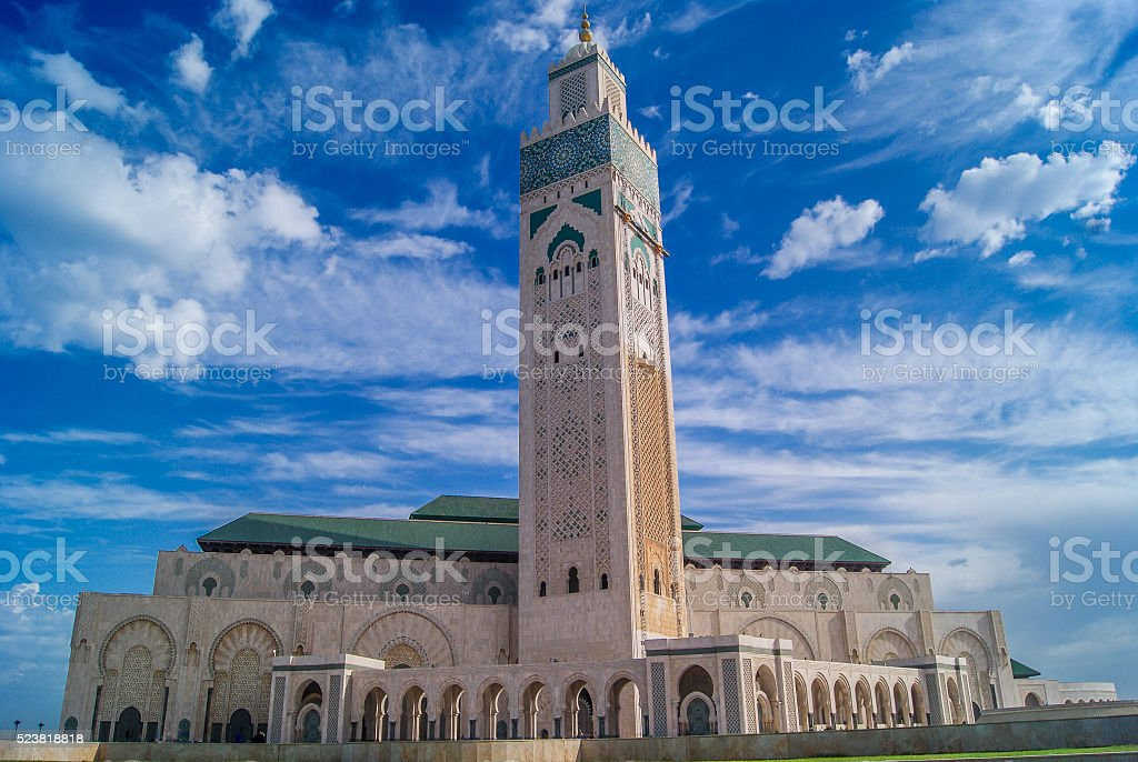 Casablanca Morocco mosque Hassan II. stock photo