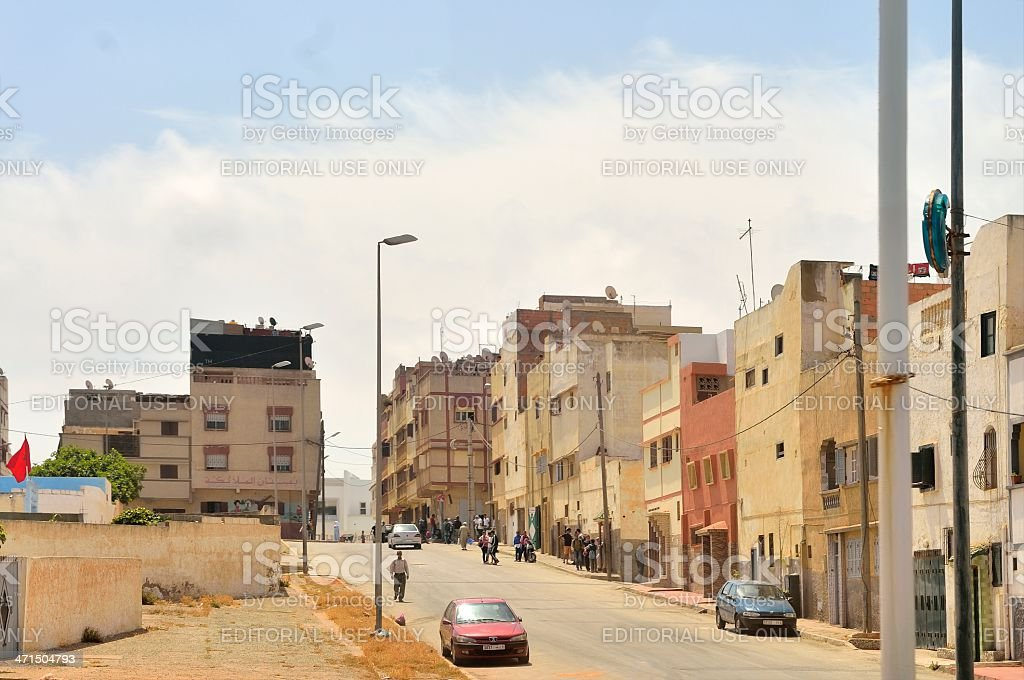 Casablanca Residential Neighborhood royalty-free stock photo