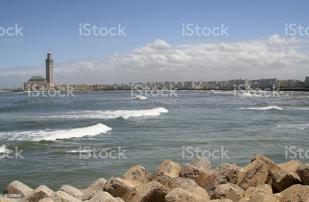Casablanca Skyline royalty-free stock photo
