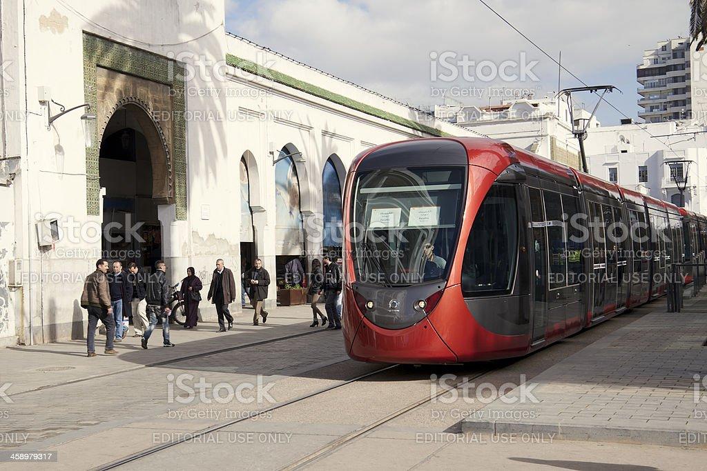 Casablanca tram stock photo