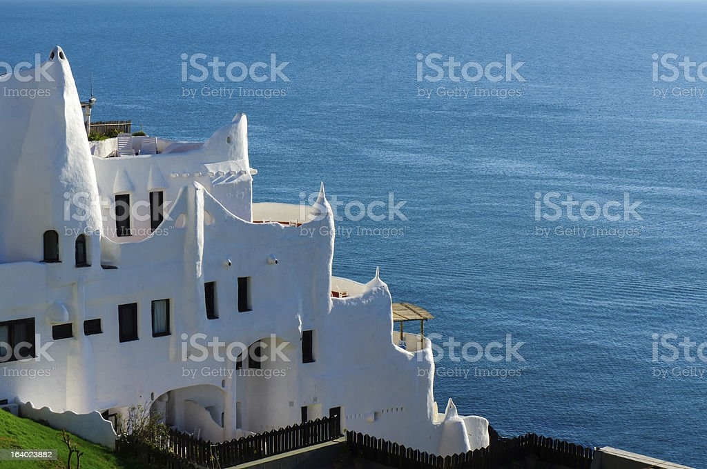 Casapueblo, Punta del Este Beach, Uruguay stock photo
