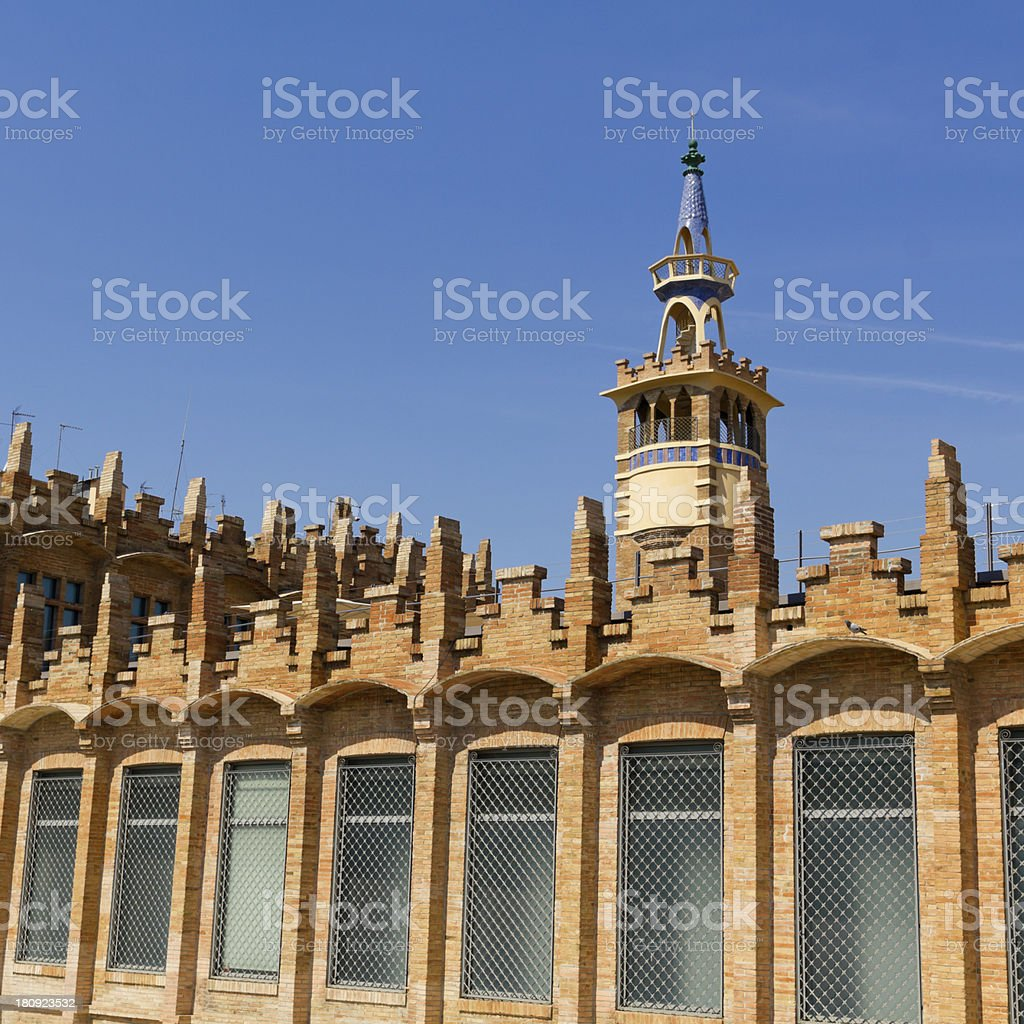Casaramona factory, Barcelona, Spain. stock photo