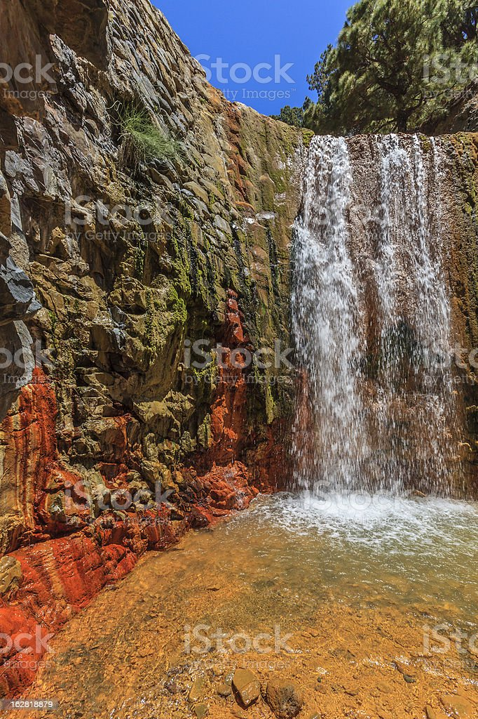 Cascada de Colores, Colored Waterfall, La Palma royalty-free stock photo