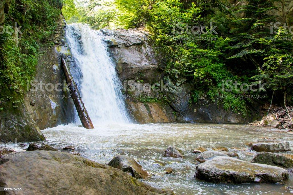 Cascada Pruncea in the Buzau Mountains stock photo