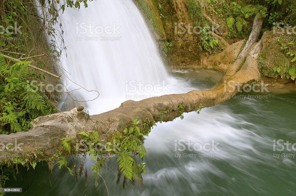 Cascadas de Agua Azul waterfall, Chiapas, Mexico royalty-free stock photo
