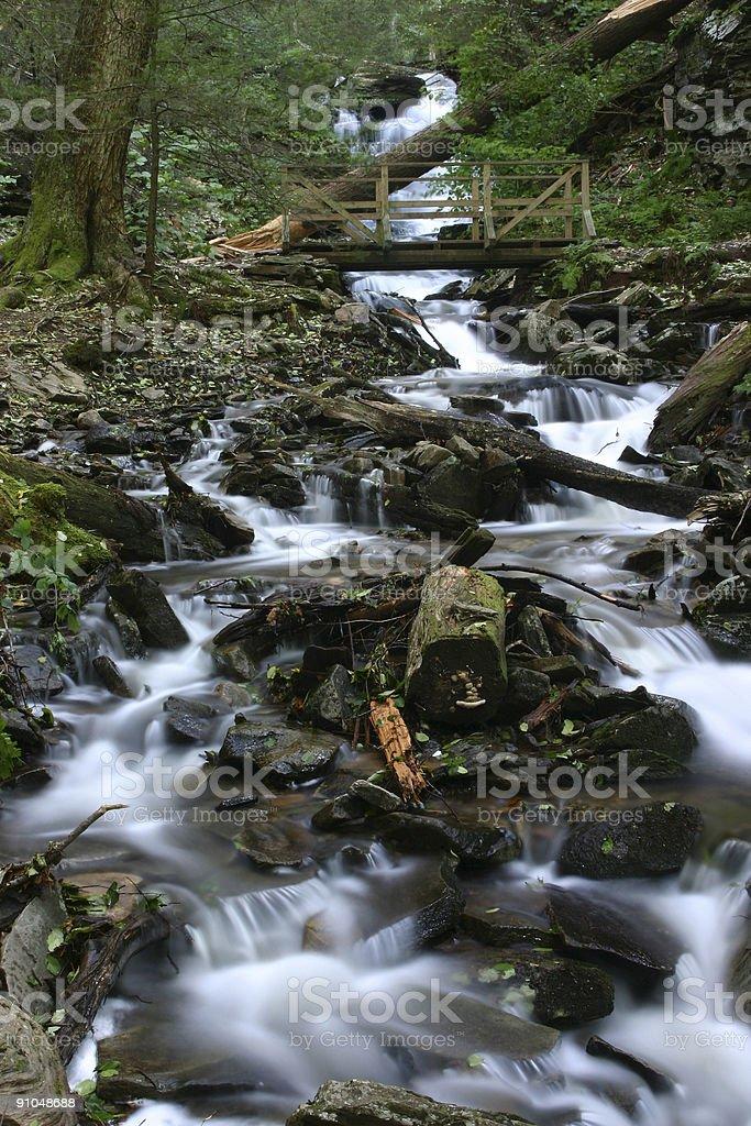 Cascade at Richetts Glen stock photo