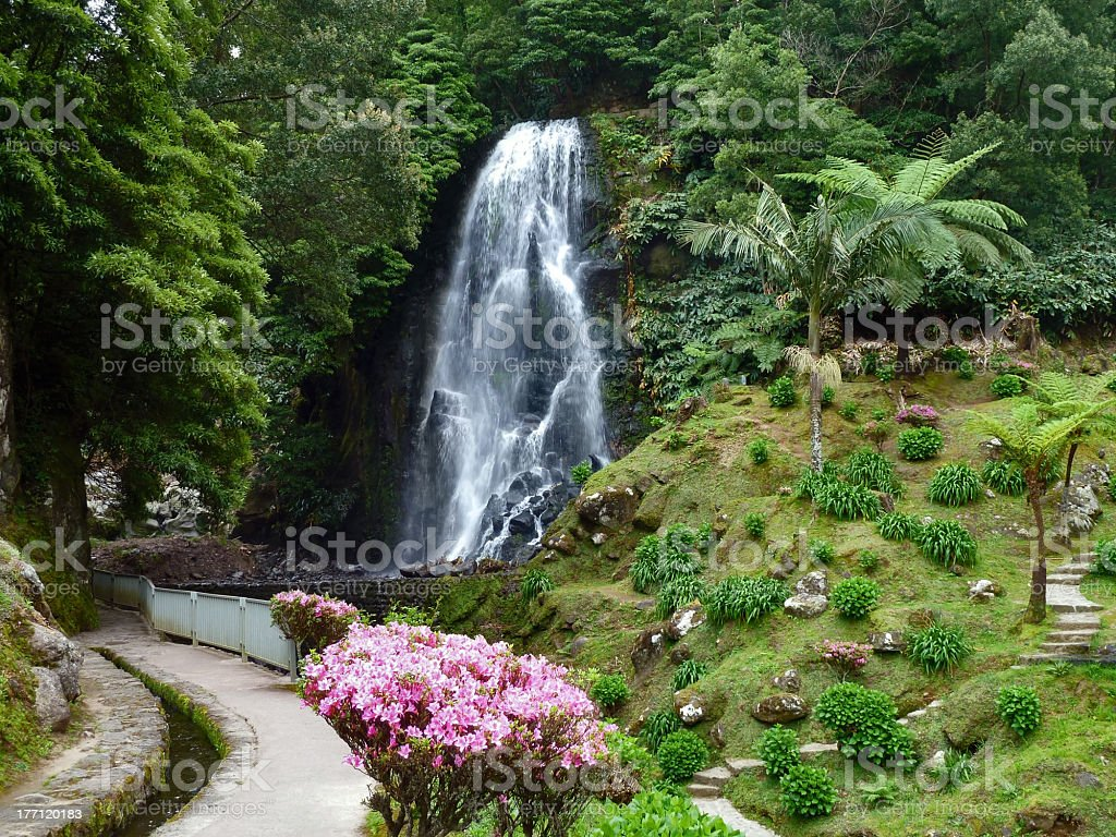 cascade at the Azores royalty-free stock photo