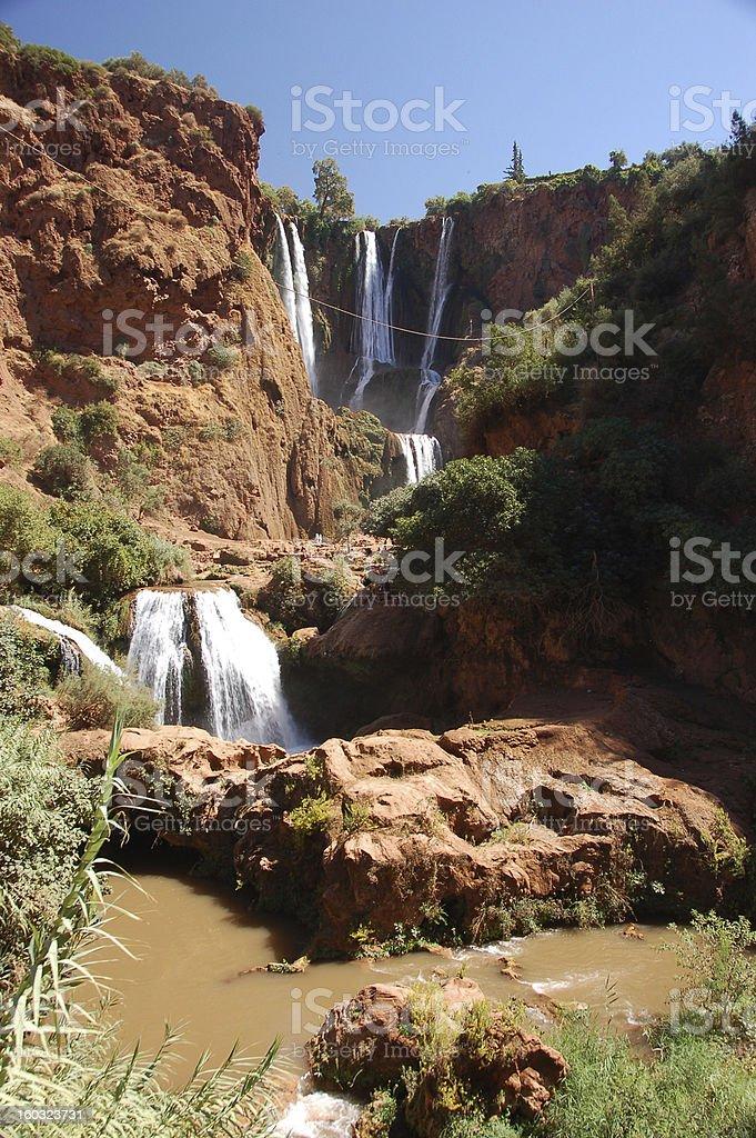 Cascade d'Ouzoud, Waterfall, Morocco stock photo