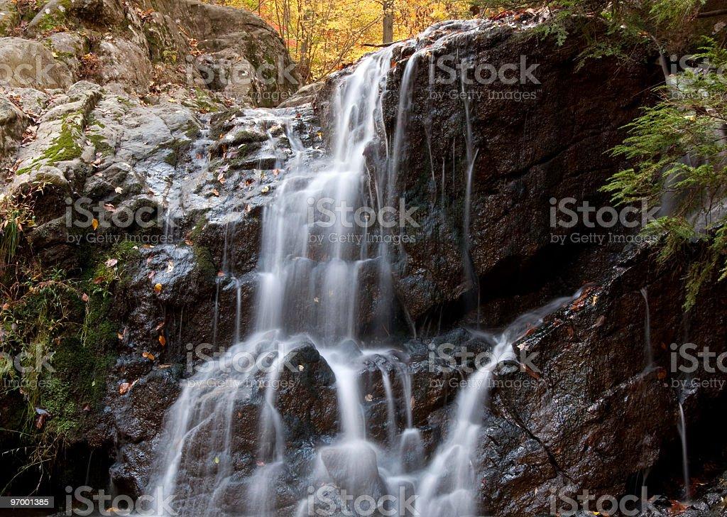 Cascade Falls in Autumn II stock photo