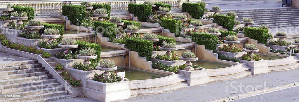 cascade fountain stock photo