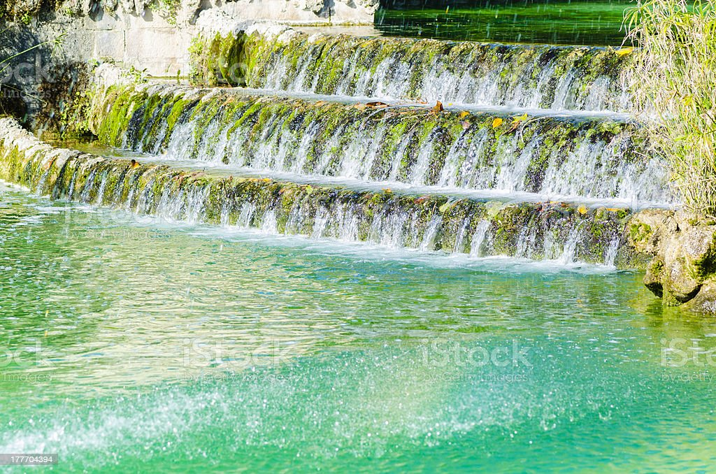 Cascade in Ciutadella Park royalty-free stock photo