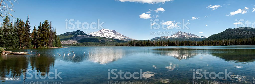 cascade lakes panorama stock photo
