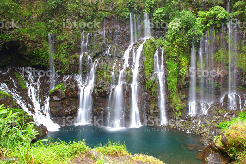 Cascade Langevin - Reunion Island stock photo
