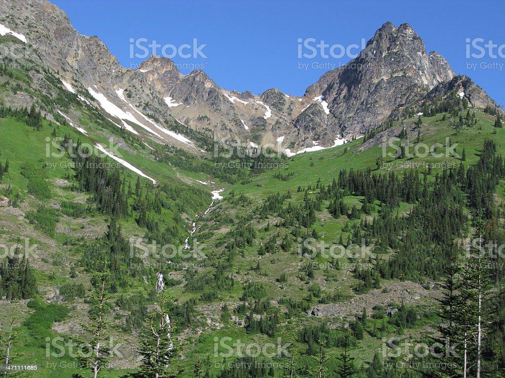 Cascade Mountains Washington State royalty-free stock photo