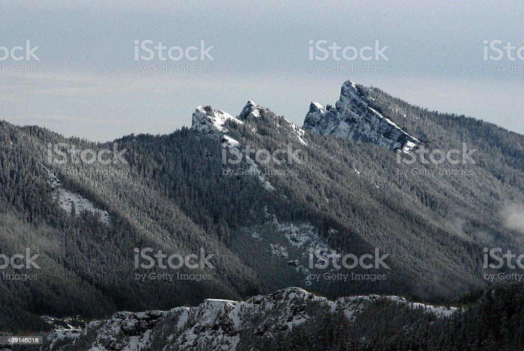 Cascade Mountains, Washington state stock photo