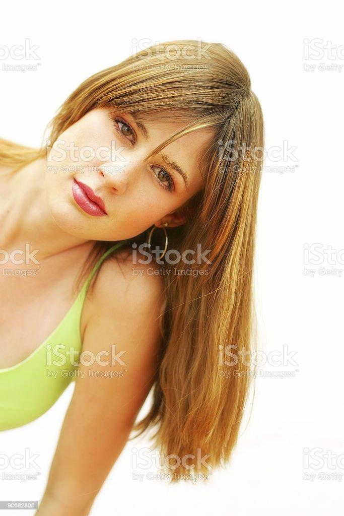 Cascade of Hair stock photo