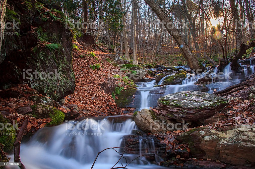 Cascades at the Delaware Water Gap stock photo
