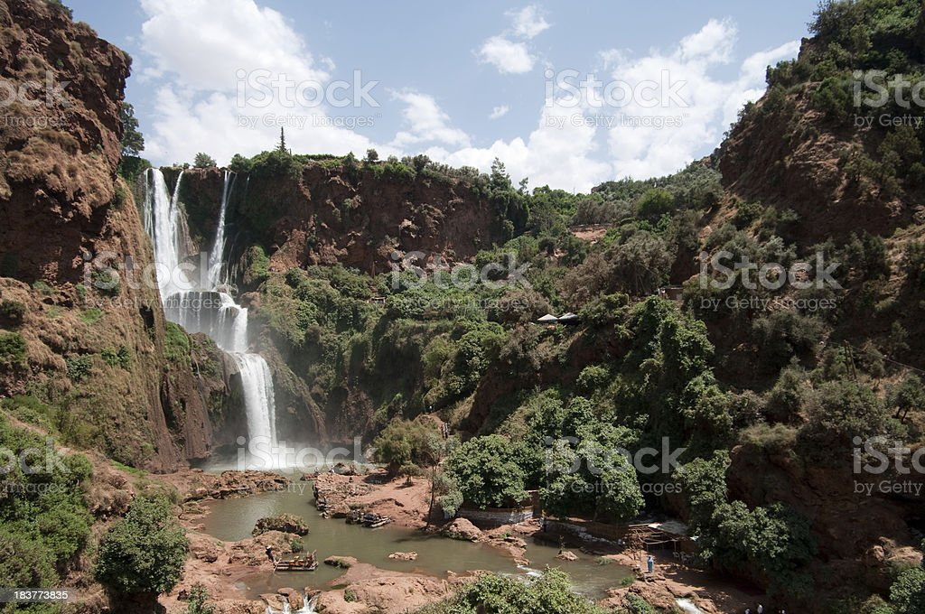 Cascades D'Ouzoud waterfall in Morocco stock photo
