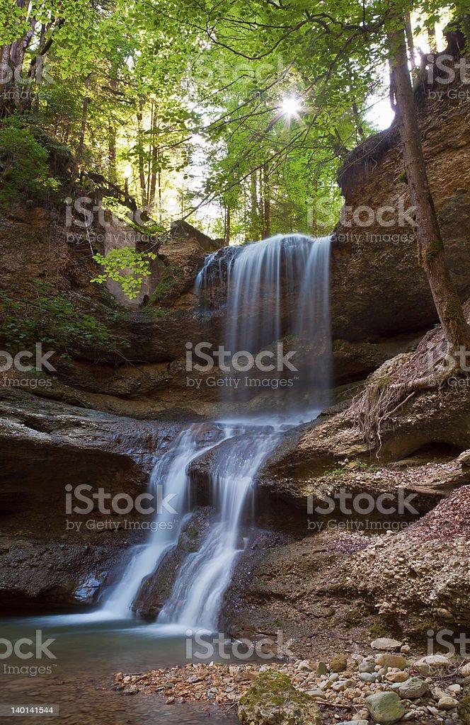 cascades in the allgäu mountains royalty-free stock photo