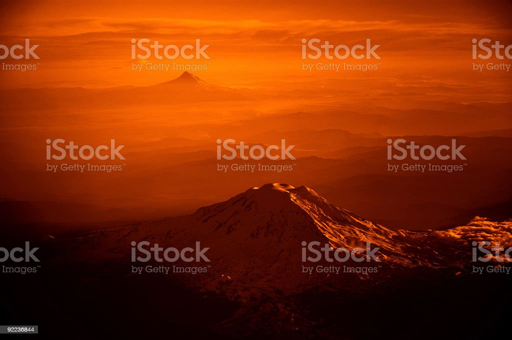 Cascades - Landscape on Fire royalty-free stock photo